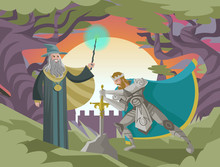King Arthur With Excalibur In ...