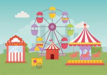 Fun Fair Carnival Tent Carouse...