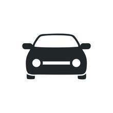 Black Car Icon Isolated On Whi...