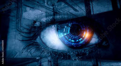 Photo Abstract high tech eye concept