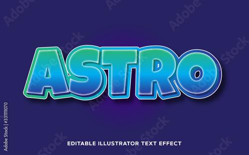 Photo Editable Text Effect - Astro Cartoon Text Style