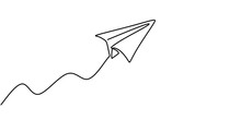 Paper Plane Drawing Vector, Co...