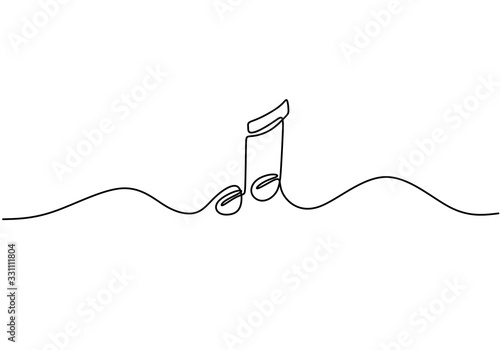 Obrazy nowoczesne   whole-note-vector-illustration-single-one-continuous-line-art-drawing-style-minimalism-sign-and-symbol-of-music