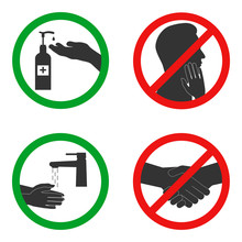 Set Of Signs Of Permitted And ...