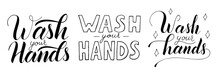 Wash Your Hands Vector Letteri...