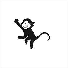 Monkey Logo Design Icon Vector