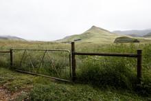 Metal Fence And Farm Gate Lead...