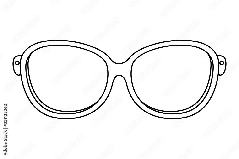 Fototapeta classic eyeglasses vision optical icon vector illustration design