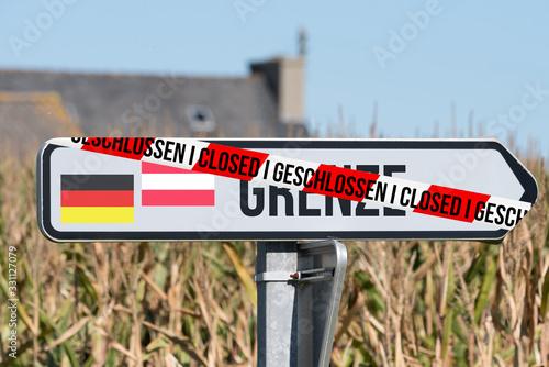 Photo Grenze zwischen Deutschland und Österreich geschlossen