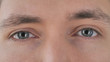 canvas print picture - Close Up of Blinking Eyes of Young Man