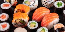 Large Sushi Set Panoramic Clos...