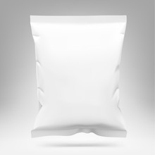 Food Snack Pillow Bag. Vector ...