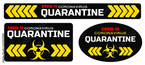 Fototapeta coronavirus quarantine sign vector icon