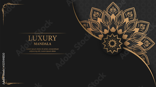 Creative luxury decorative mandala background Fototapete