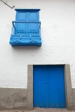 Cusco Peru. Blue Door.