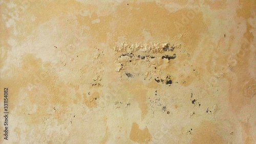 Fototapeta weathered wall with mold and cracked paint obraz