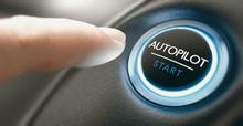 Car Autopilot Switch Button.