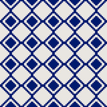 Abstract Geometric Grey And Blue Pattern