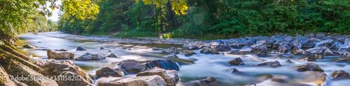 Fotografie, Obraz Panorama am Fluss im Frühling - Sommer