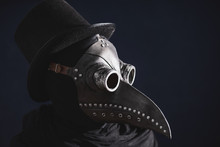 Masked Man Plague Doctor, Head...