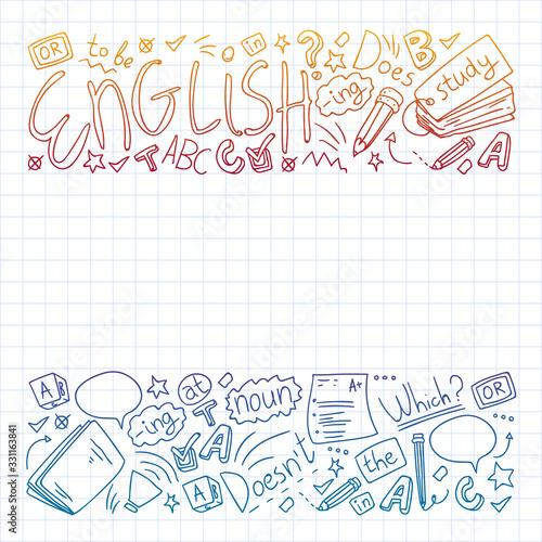 English internet online courses Wallpaper Mural