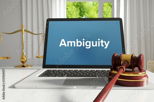 Ambiguity – Law, Judgment, Web Canvas Print