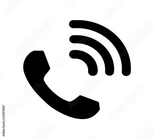 Ringing telephone icon, phone calling symbol Fototapete