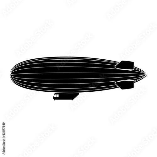 Photo Vector blimp aircraft