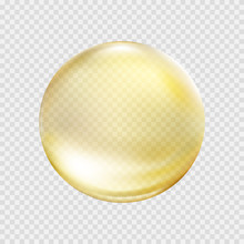 Gold Bubble Isolated On Transp...