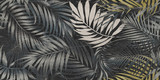 seamless pattern with tropical leaves - 331193234