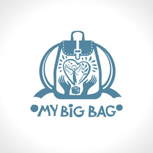 My Big Bag. Vector Backpack Wi...