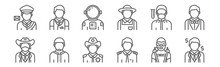 Set Of 12 Profession Avatar Ic...