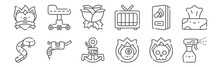 Set Of 12 Tattoo Studio Icons....