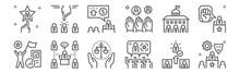 Set Of 12 Election World Icons...