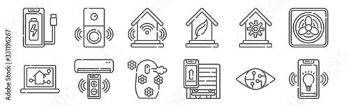 Fototapeta set of 12 smart home icons