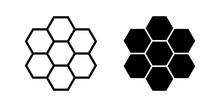 Honeycomb Icon Vector Black Si...