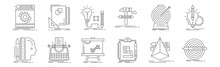 Set Of 12 Advertising Icons. O...
