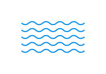 Wave Line Icon. Water Sign. Se...