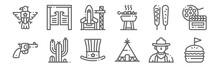 Set Of 12 United States Icons....