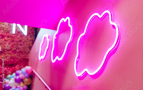 Obraz na plátně Neon Clouds