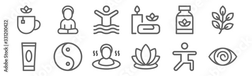 Photo set of 12 therapy icons