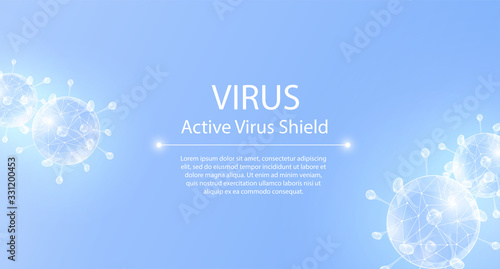 Virus protection, website page template Canvas Print