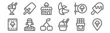 Set Of 12 Ice Cream Shop Icons...