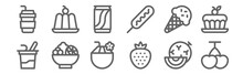 Set Of 12 Summer Food And Drin...