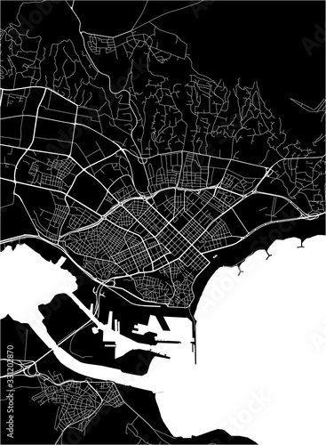 Canvas Print map of the city of Varna, Bulgaria