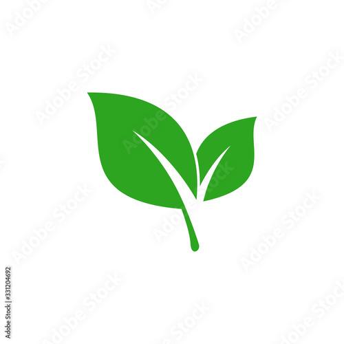 Fototapeta Leaf Logo Flat Design obraz na płótnie