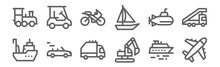 Set Of 12 Vehicles And Transpo...