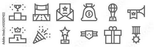 Fotomural set of 12 winning icons