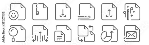 set of 12 files icons Canvas Print