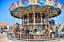 Carousel With Horses, Photo As...